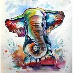 Majestic elephant playing
