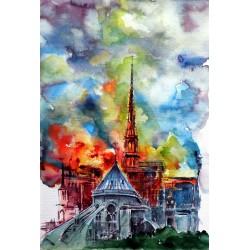 Burning Notre Dame