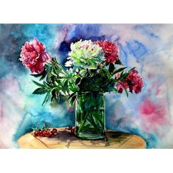 Still life with peony and...
