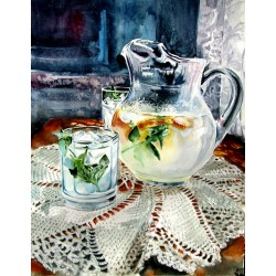 Still life with lime juice