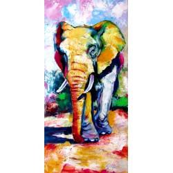 Walking majestic elephant