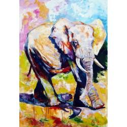 Walking majestic elephant II