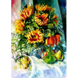 Still life with sunflowers...