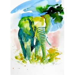 Majestic elephant alone