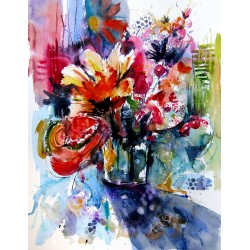 Colorful life with flowers