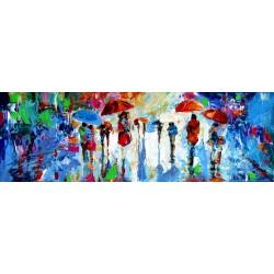 Rain, people and umbrellas
