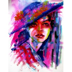 Portrait of a girl with hat II