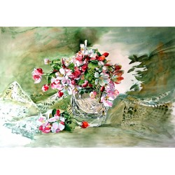 Still life with flowering...