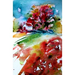 House alone at fall