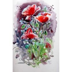 Beautiful red poppies II